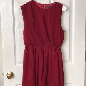 Theme | Brick Red Asymmetrical Dress
